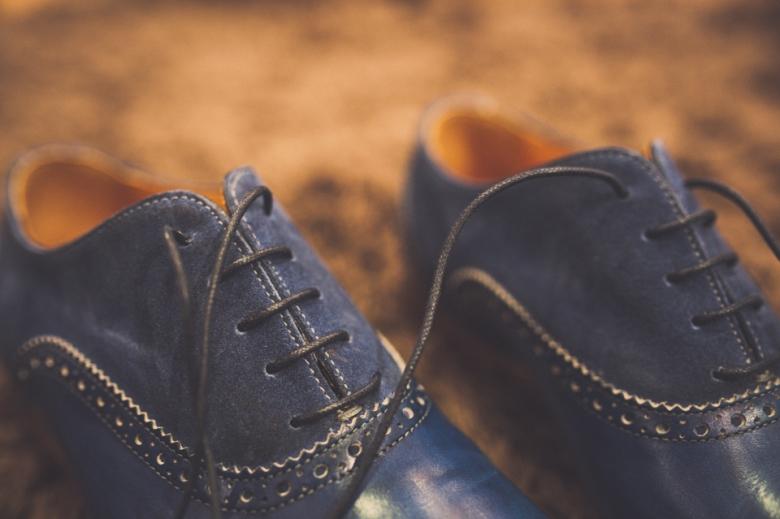 Schoenen van de bruidogom