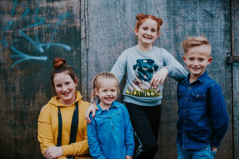 portret van de kleinkinderen, Nickie Fotografie