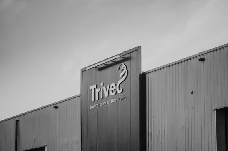 Pand en logo van Trivec. Door Nickie Fotografie